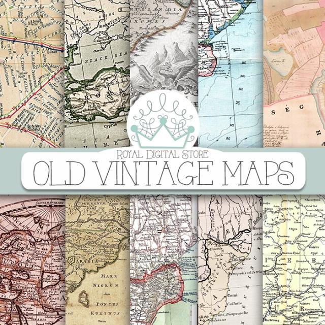 Old Maps Digital Paper: