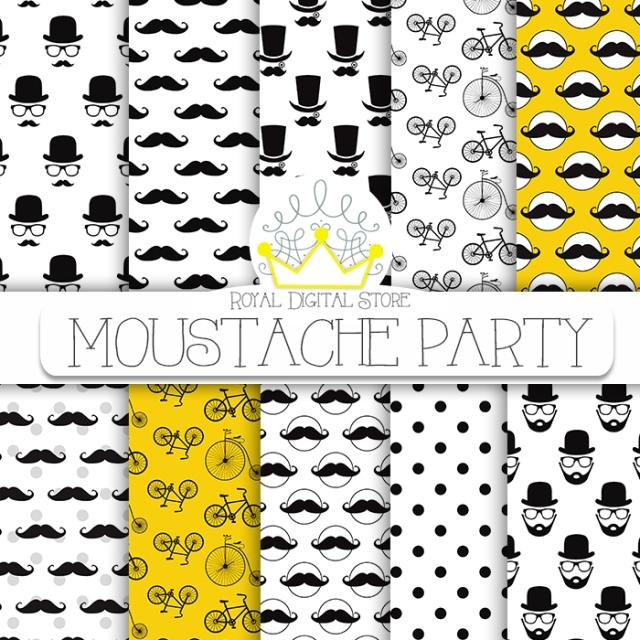 Moustache Digital Paper :
